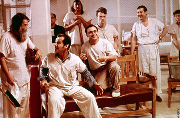 cukoos nest Kirk douglas played on broadway as a charming rogue who contrives to serve a short sentence in an airy mental institution rather than in a prison.
