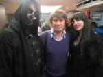 Виктор Буланкин (в центре) с демоническими персонажами