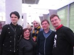 Слева направо: Стас (ColdDeath), Ирина Белова (Irina15), Елена (Dummy), Алексей Петров (MaxCady), Дмитрий Витер (Dmitrythewind)