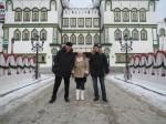 Леша (справа) с супругой Катей в Москве, 2013