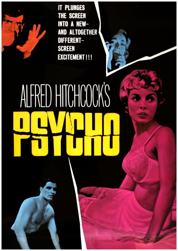 the depiction of the novel psycho in the movie the birds