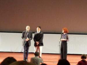 """Дэвид Греко (слева) и Массимо Раньери на показе фильма """"Козни"""" на ММКФ, 26 июня 2016"""