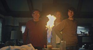 Пламя - важный элемент картины