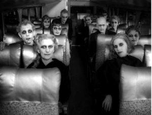 """Сцена из """"Карнавала душ"""", мотив которой использовал Ромеро в """"Ночи живых мертвецов"""""""